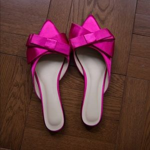 Shoes - Pink Satin Mules
